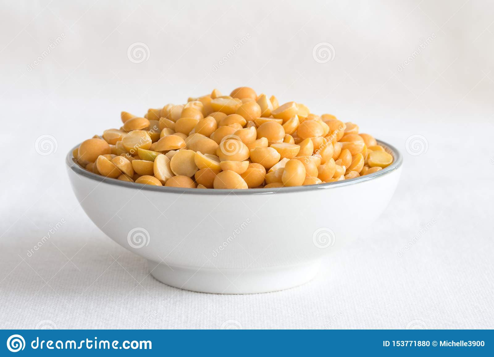 Yellow Split Peas in a Bowl