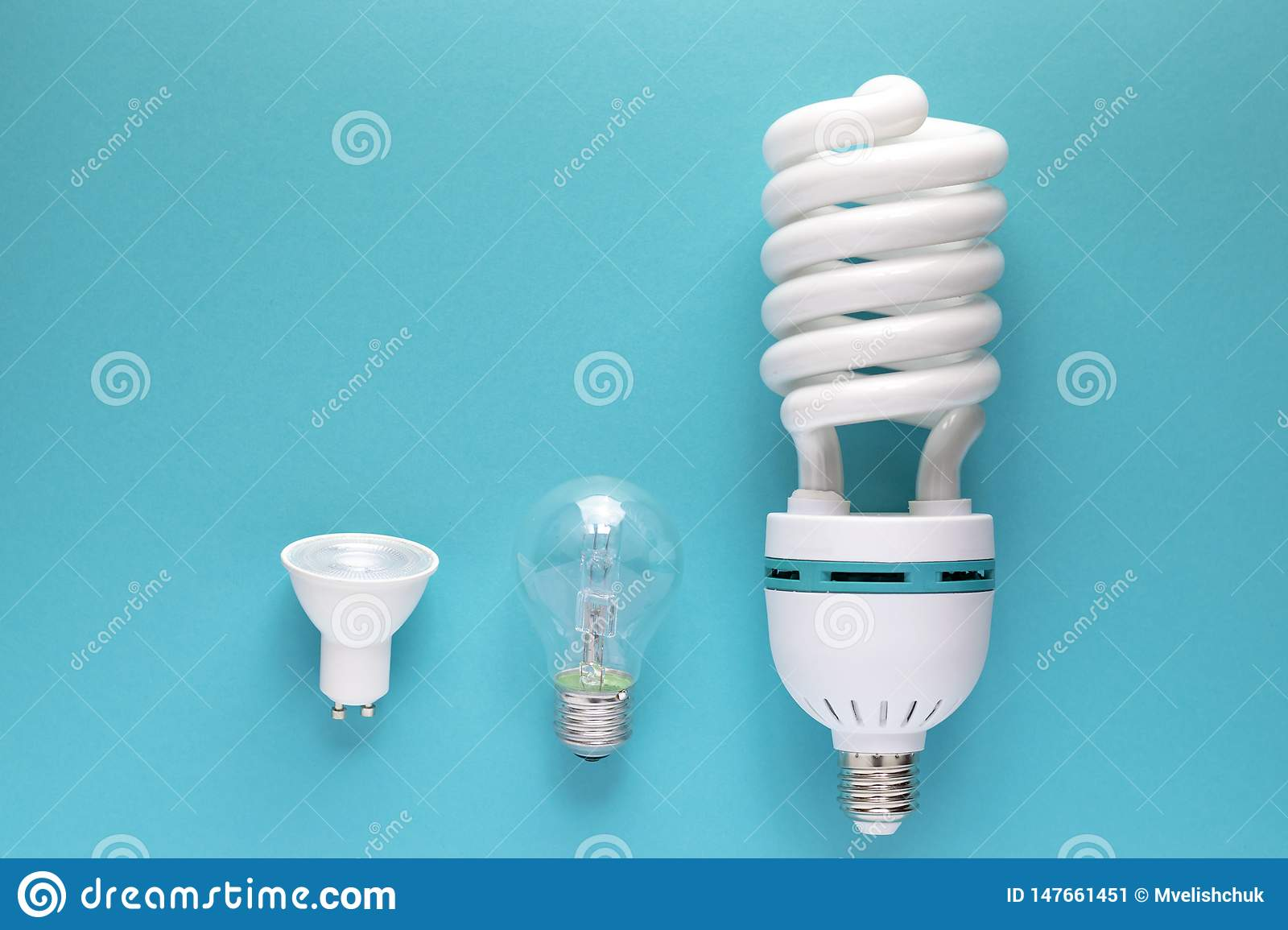 Close up view of white light bulb