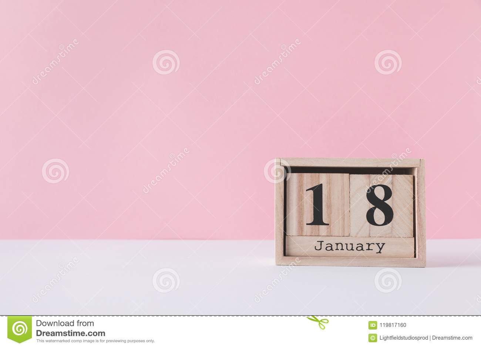 close up view of wooden calendar