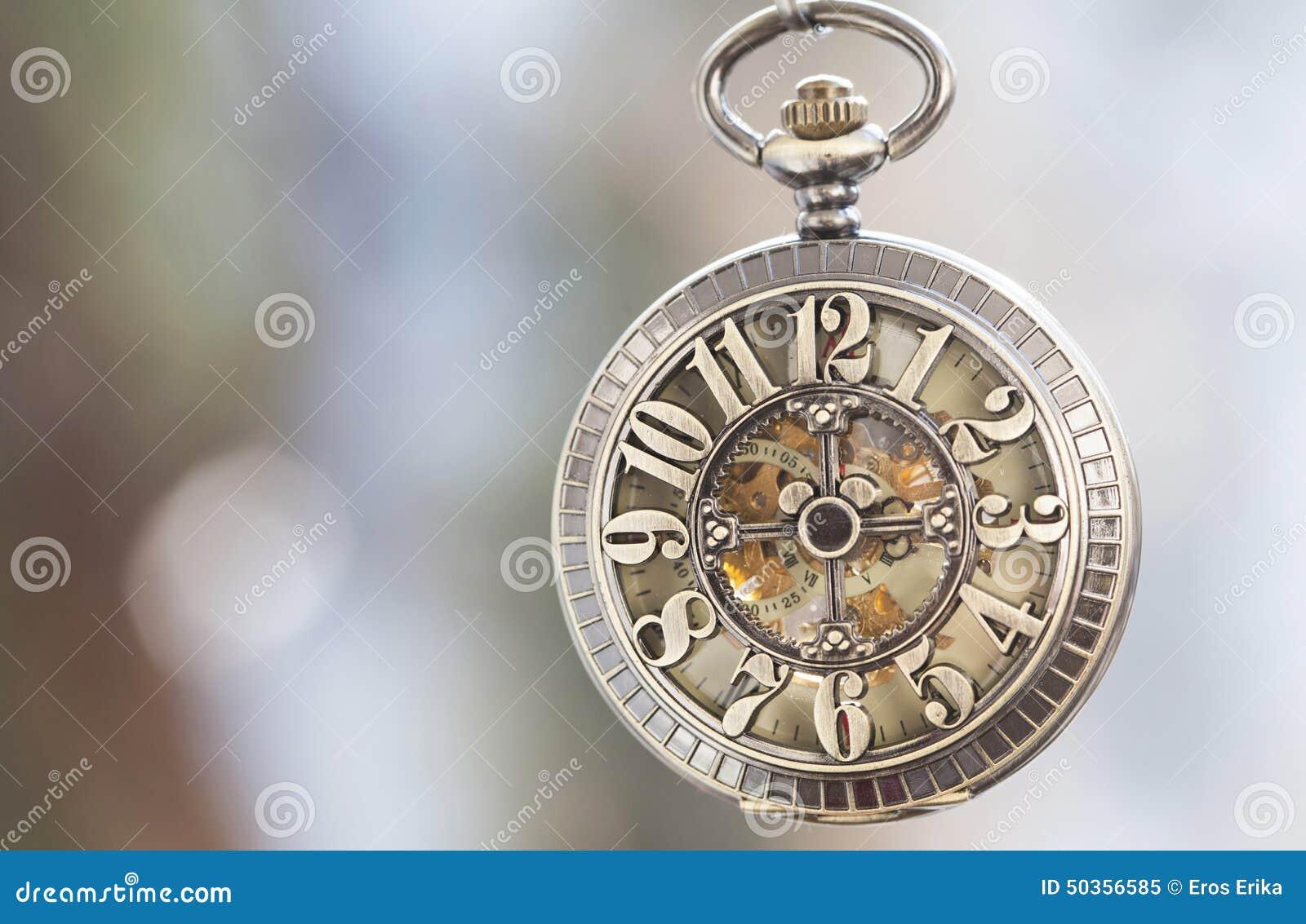 Close Up On Vintage Pocket Watch Stock Image Image 50356585
