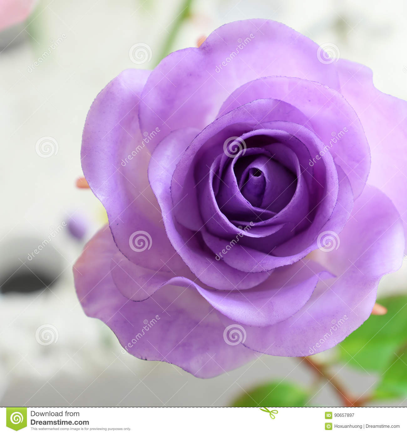 Close up of violet rose flower stock image image of nice handmade wonderful clay art close up of violet rose flower beautiful artificial flowers of craftsmanship with skillful izmirmasajfo