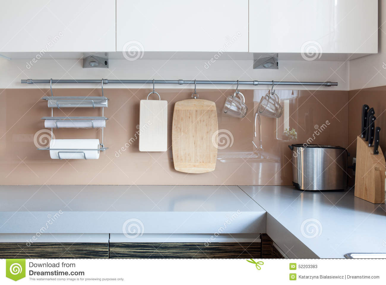 Close Up Of Wall In Kitchen Stock Photo Image 52203383