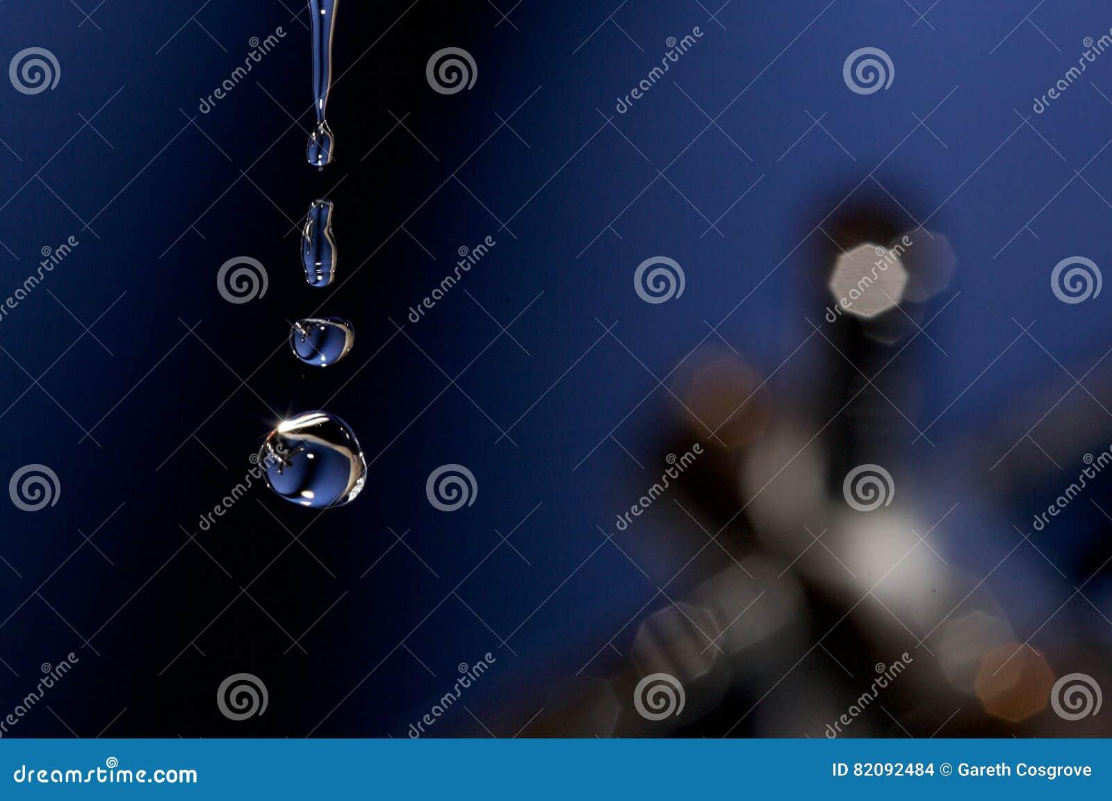 Close up of water drops