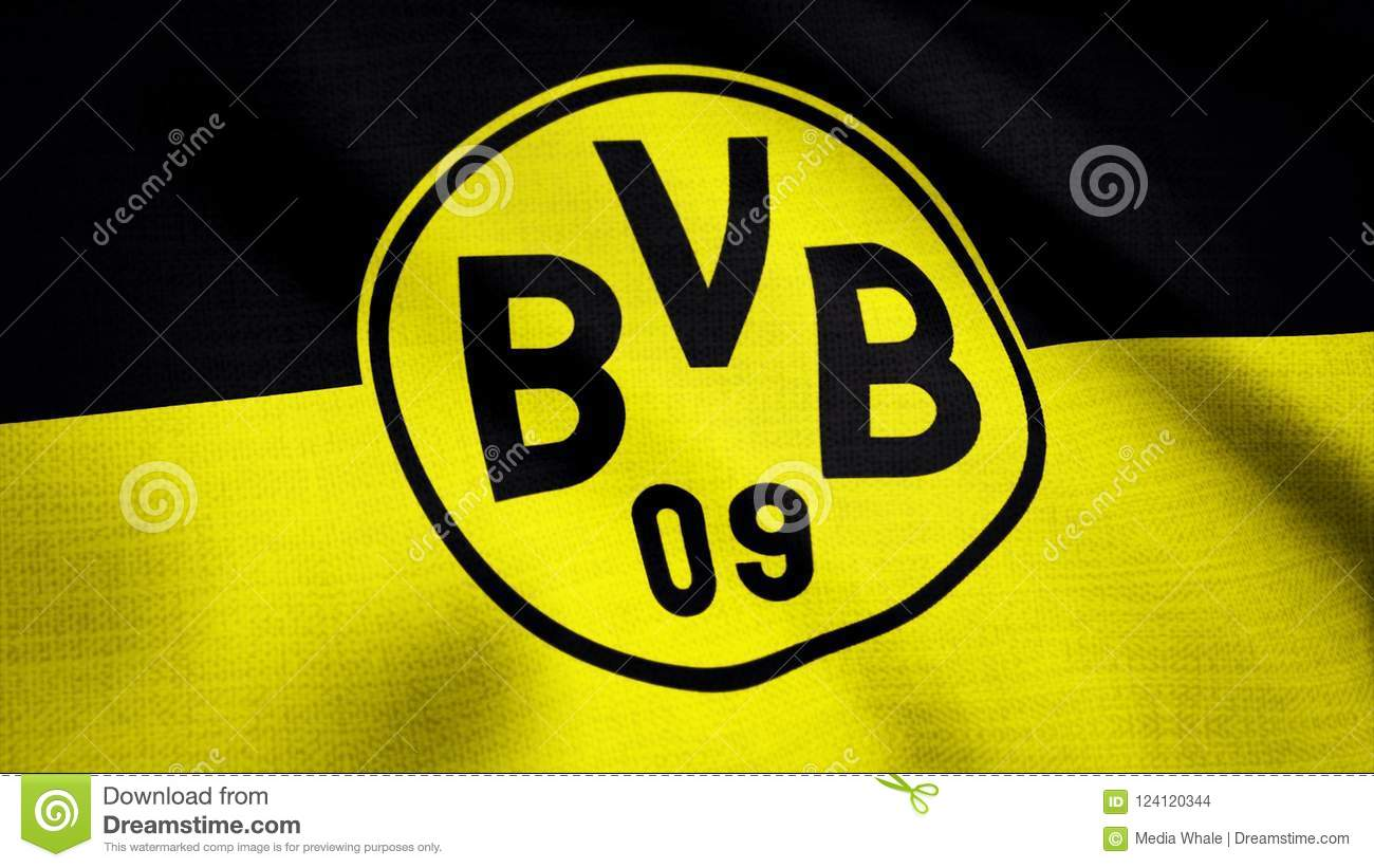 Close Up Of Waving Flag With Fc Borussia Dortmund Football Club Logo Seamless Loop Editorial Animation Editorial Stock Image Image Of Banner Score 124120344