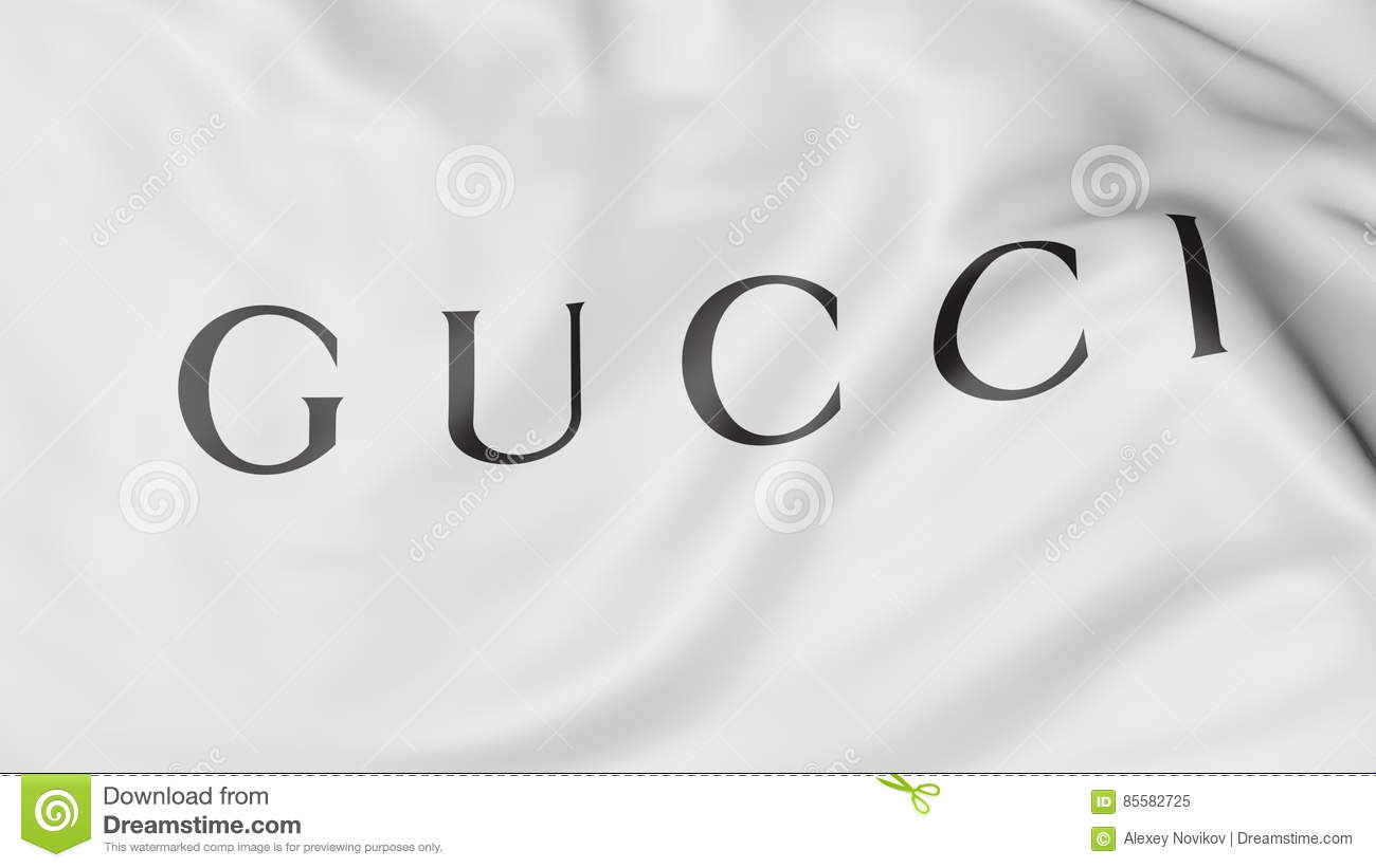 6eed56a046cd1c Close-up Of Waving Flag With Gucci Logo