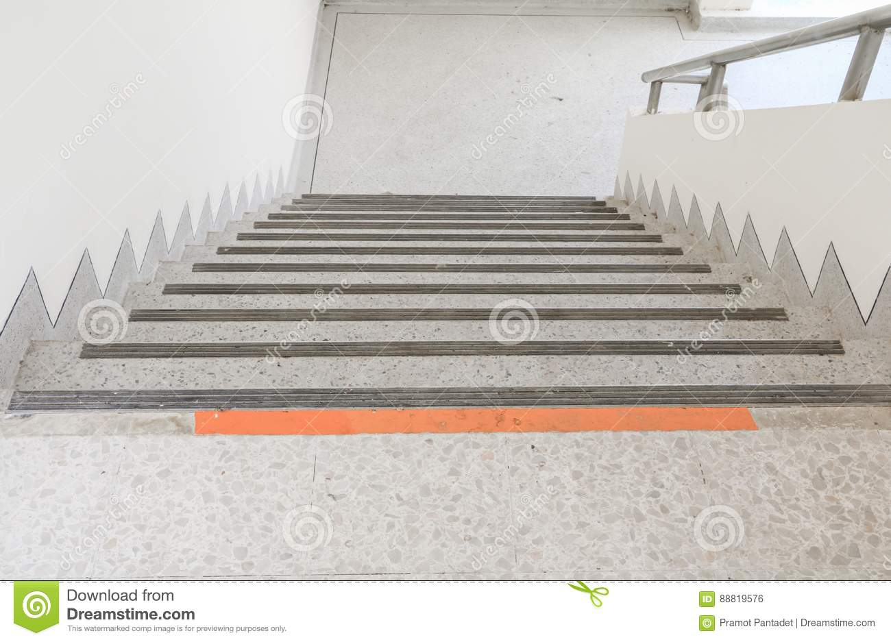 Download Close Up, Way Down The Stairs Terrazzo Floor Stock Photo   Image  Of Elegance