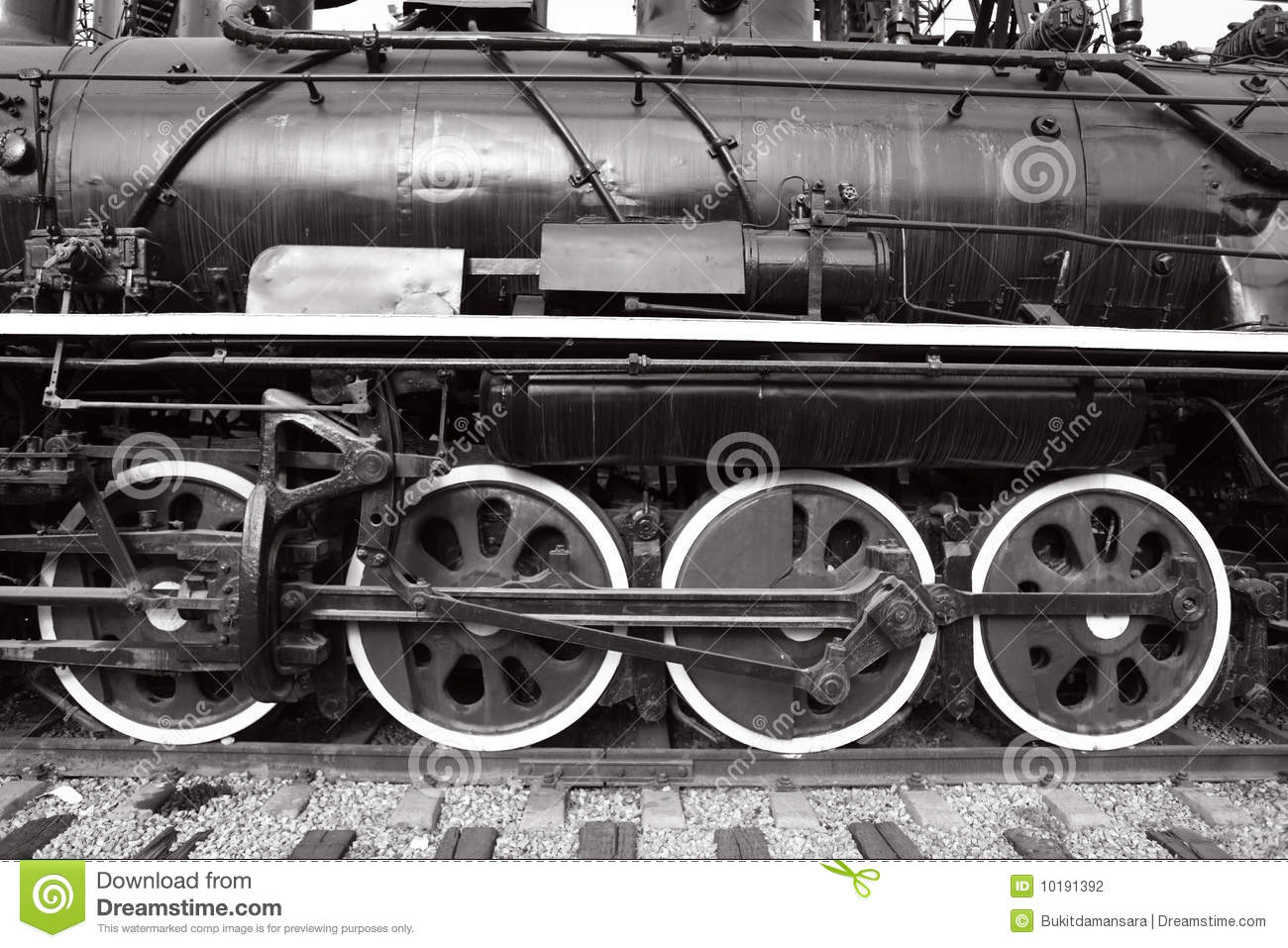 Close-up Of Wheels Of Old Steam Train Stock Photo - Image of