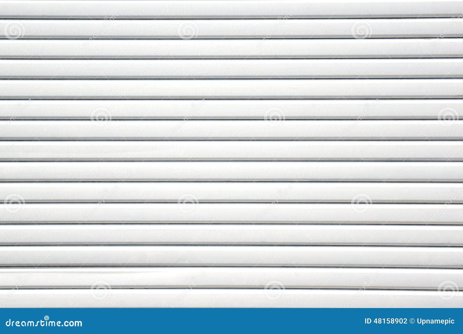 White Sheet Metal : Close up white metal sheet slide door texture background