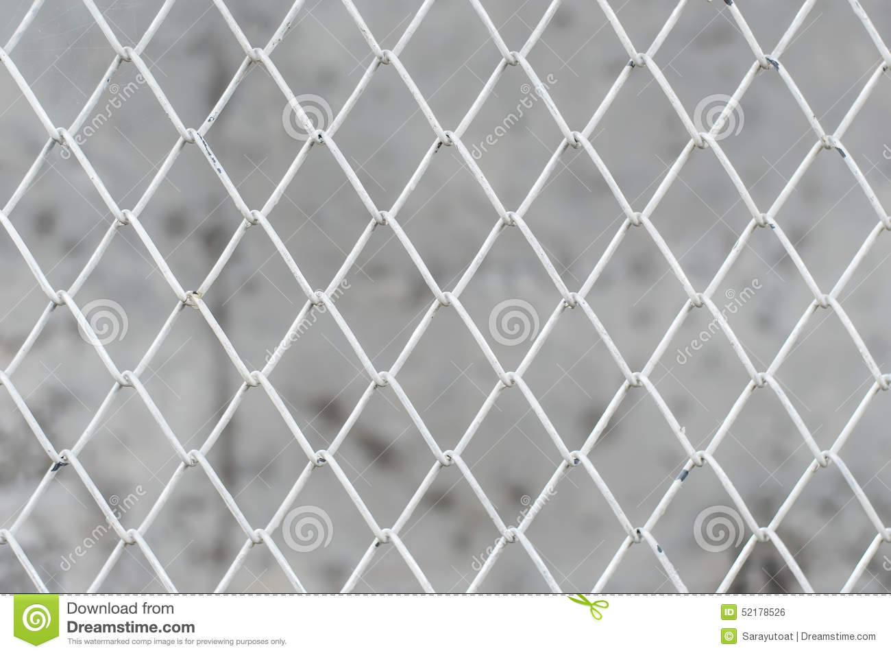 Close-up White Wire Mesh Fence Stock Photo - Image of pattern, hole ...
