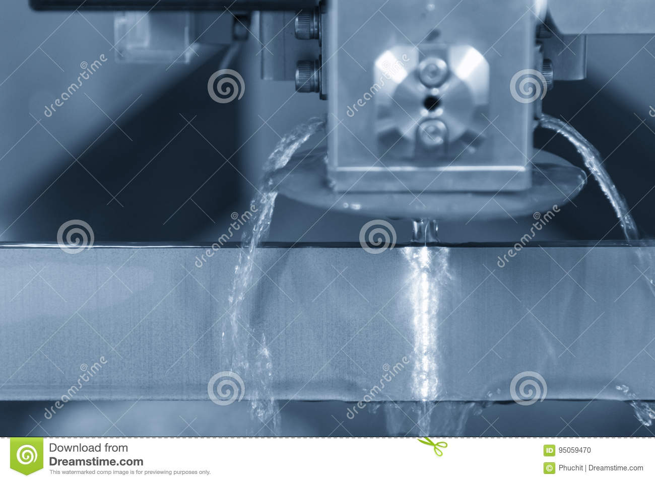 Close-up Of The Wire - EDM CNC Machine Stock Photo - Image of ...