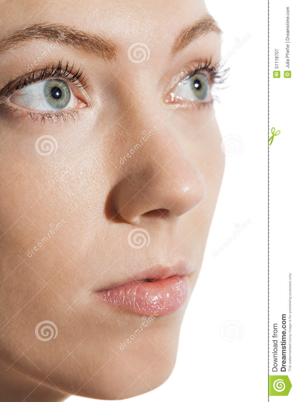 Close Up Woman Eye Looking Up Stock Image - Image of ...