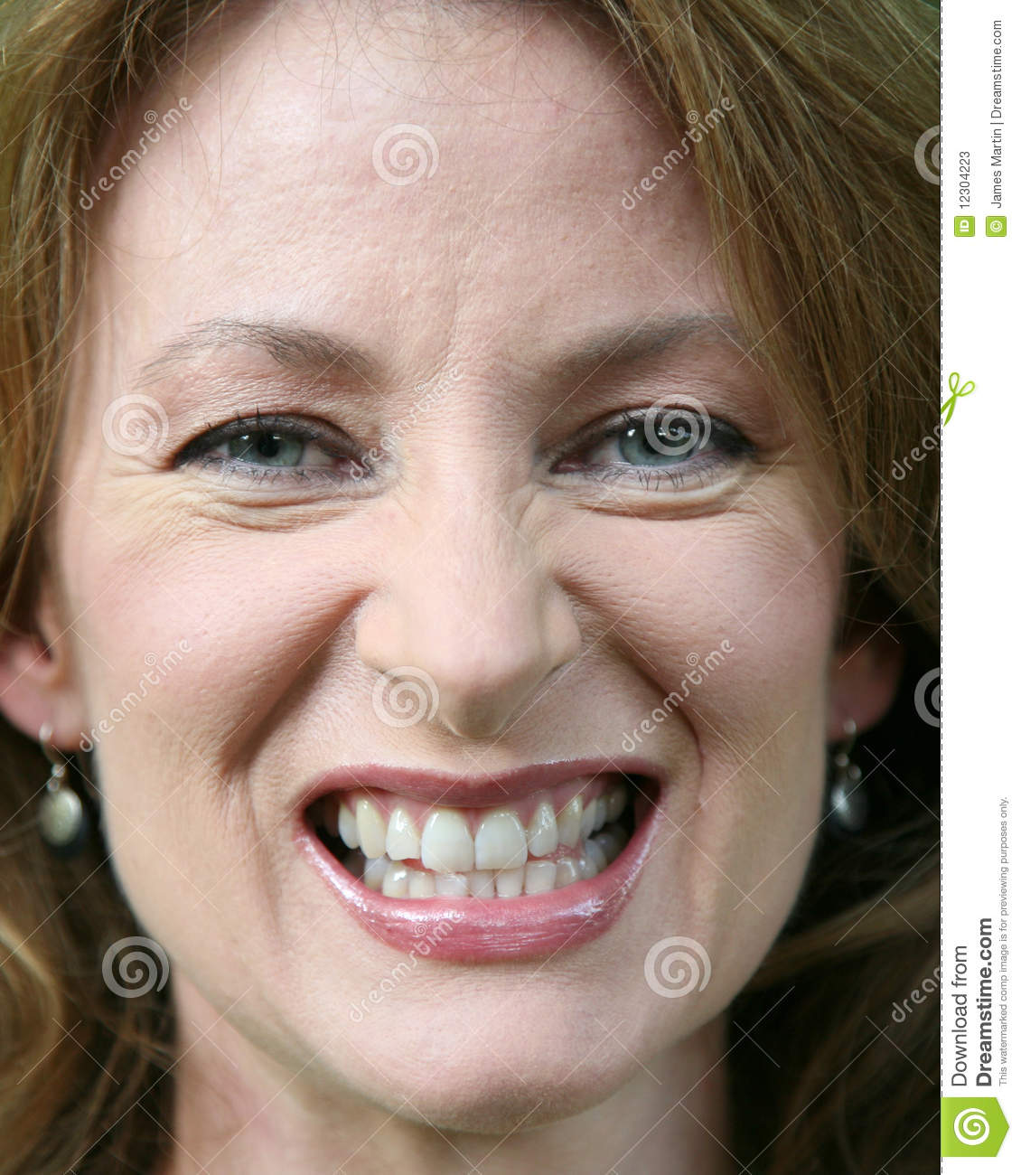 Close Up Of A Woman Gritting Her Teeth Royalty-Free Stock