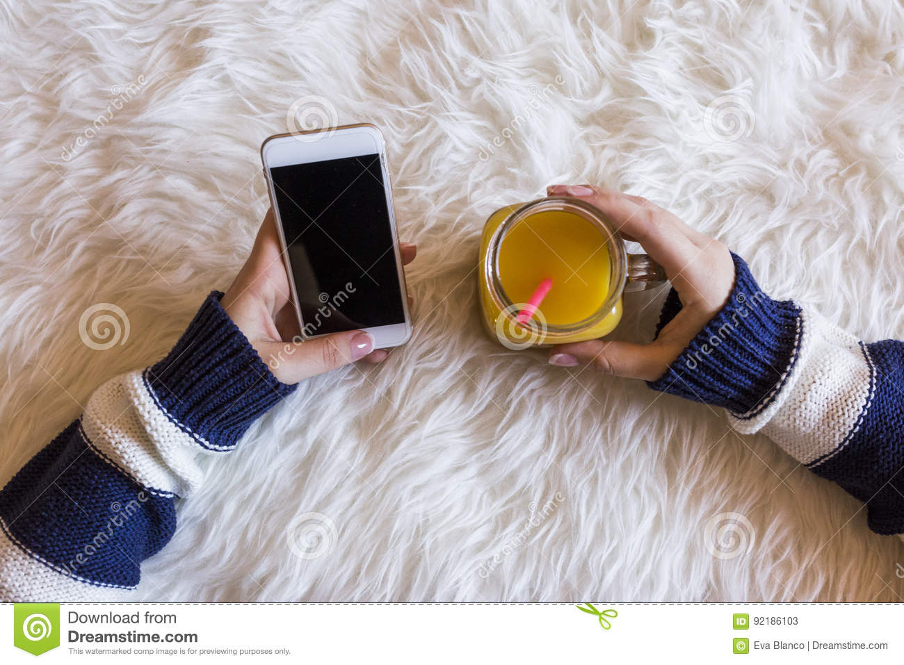 Close Up Of Woman Hands Typing On Mobile Phone  Right Hand