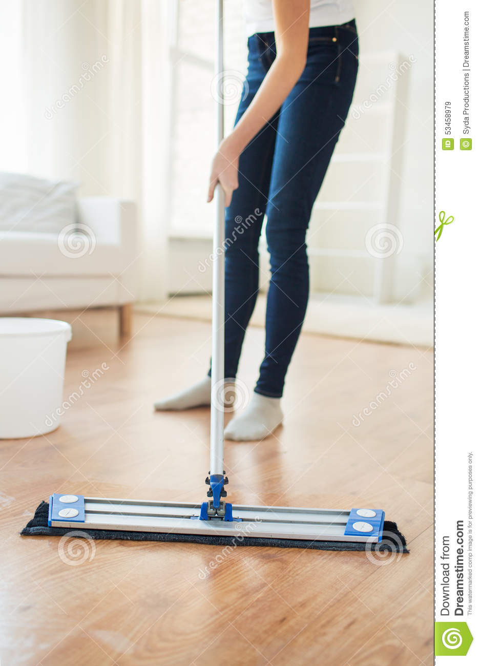 Cleaning floor mop chores housekeeping stock photography for Floor someone