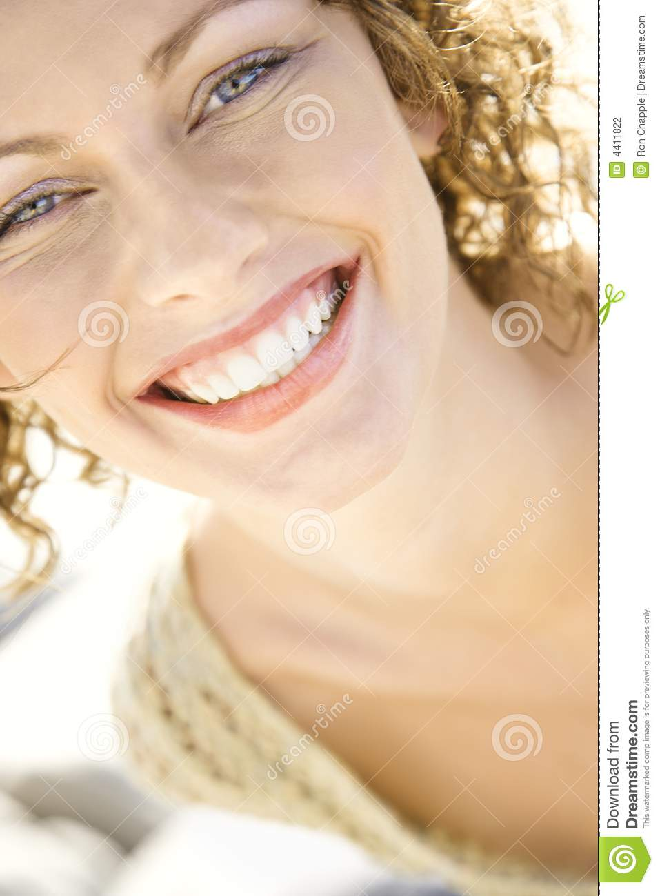 Close-Up Of Womans Smiling Face Stock Photography - Image 4411822-2169