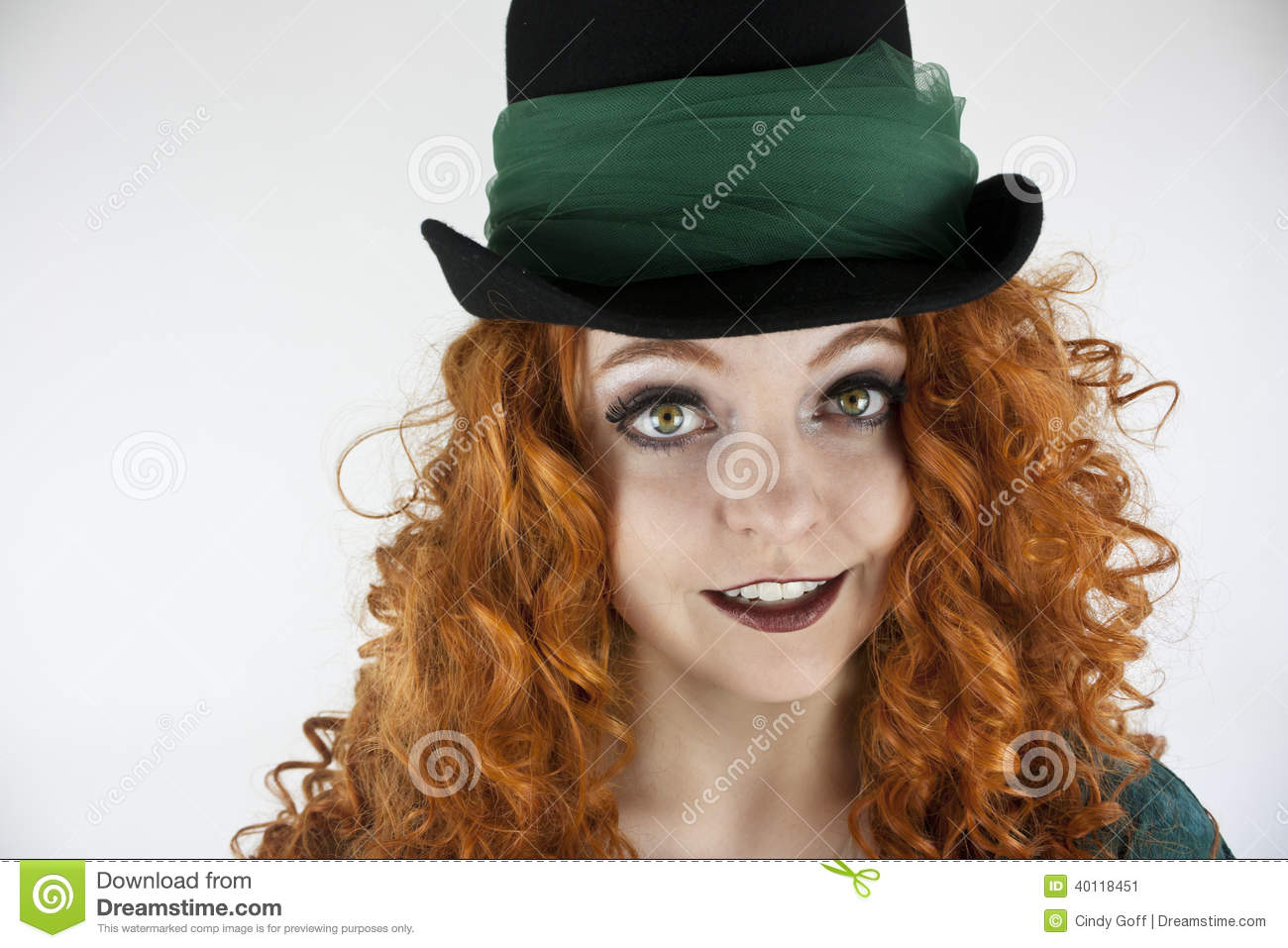 Close Up Of Woman Wearing Hat Stock Image Image Of Saint