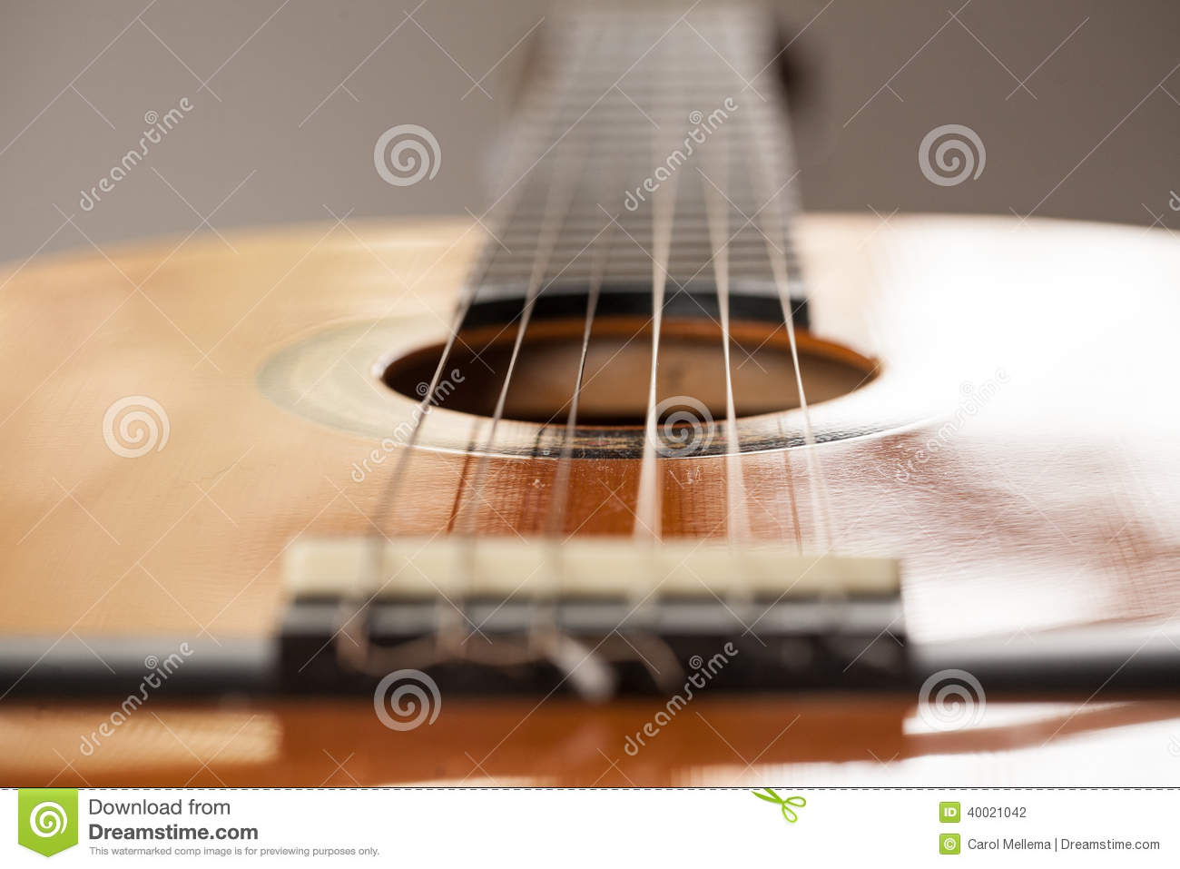 close up of wood acoustic guitar with strings stock photo image 40021042. Black Bedroom Furniture Sets. Home Design Ideas