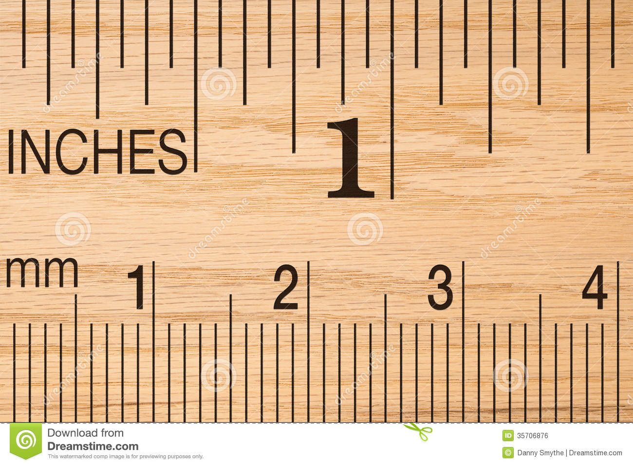 close up of a wood ruler stock photo image of unit scale 35706876. Black Bedroom Furniture Sets. Home Design Ideas