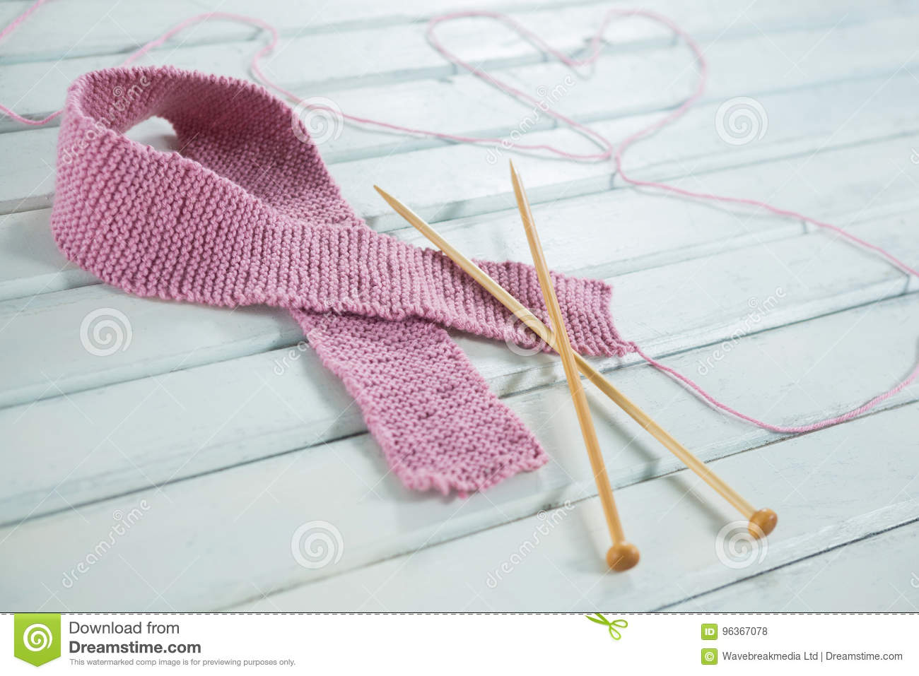 for cancer awareness Knitting breast needles