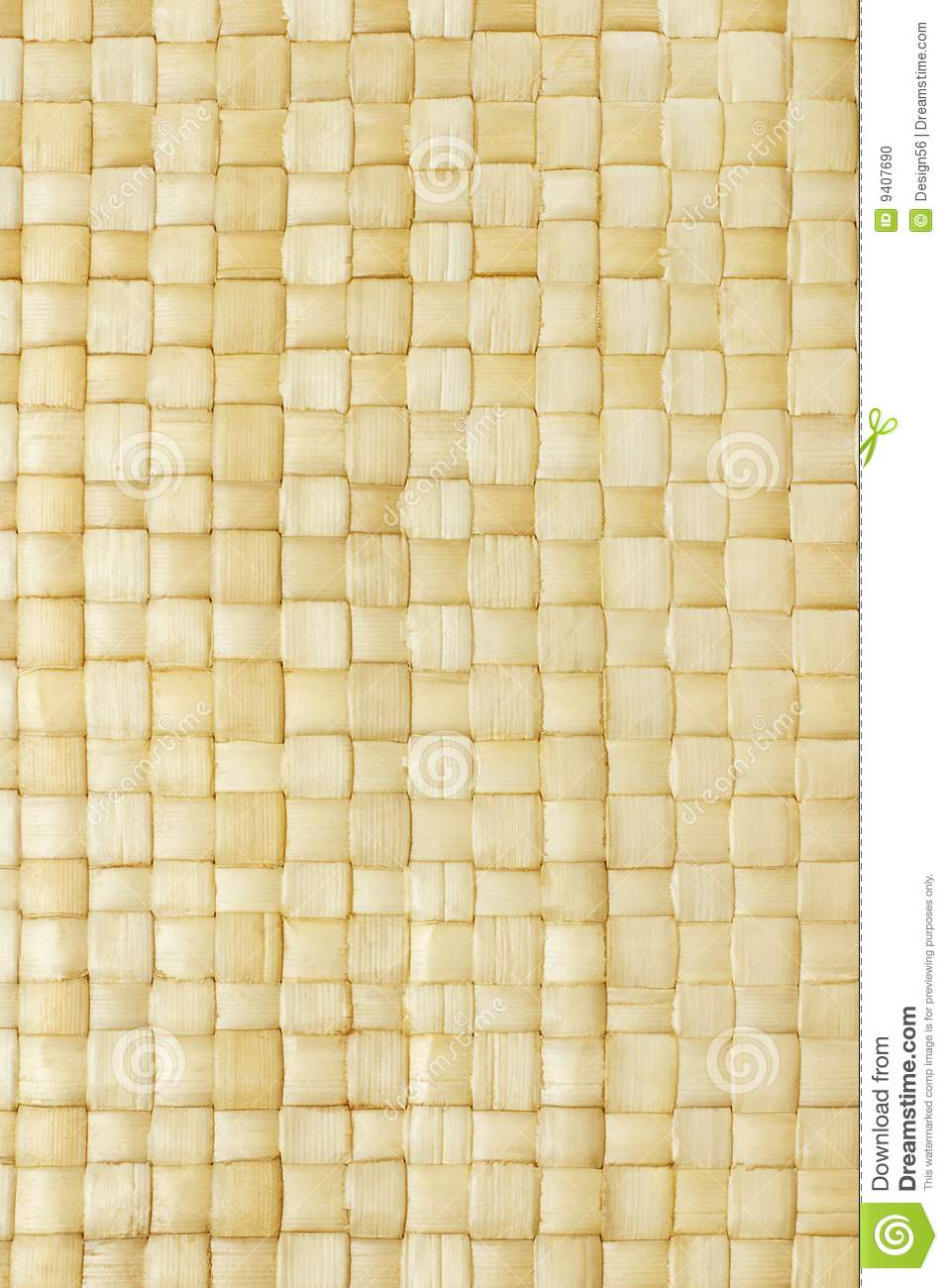 Close Up Of Woven Palm Leaves Mat Stock Photo Image 9407690