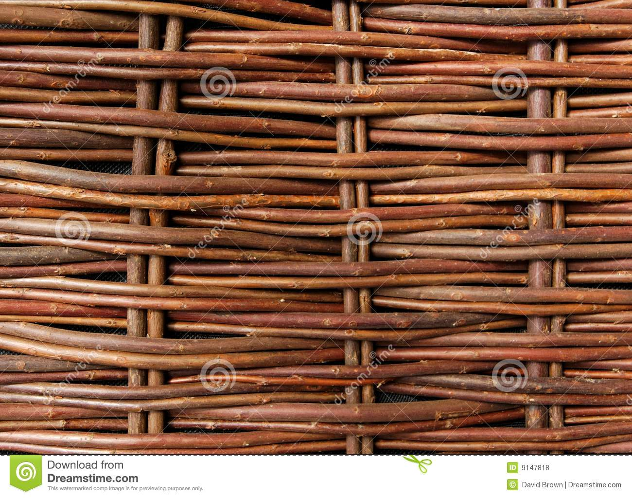 Close Up Of Woven Willow Fence Stock Photo Image Of