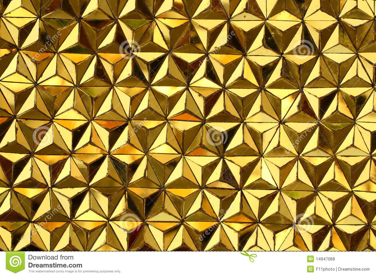 Close Up Of Yellow Mirror Texture Stock Photo Image Of