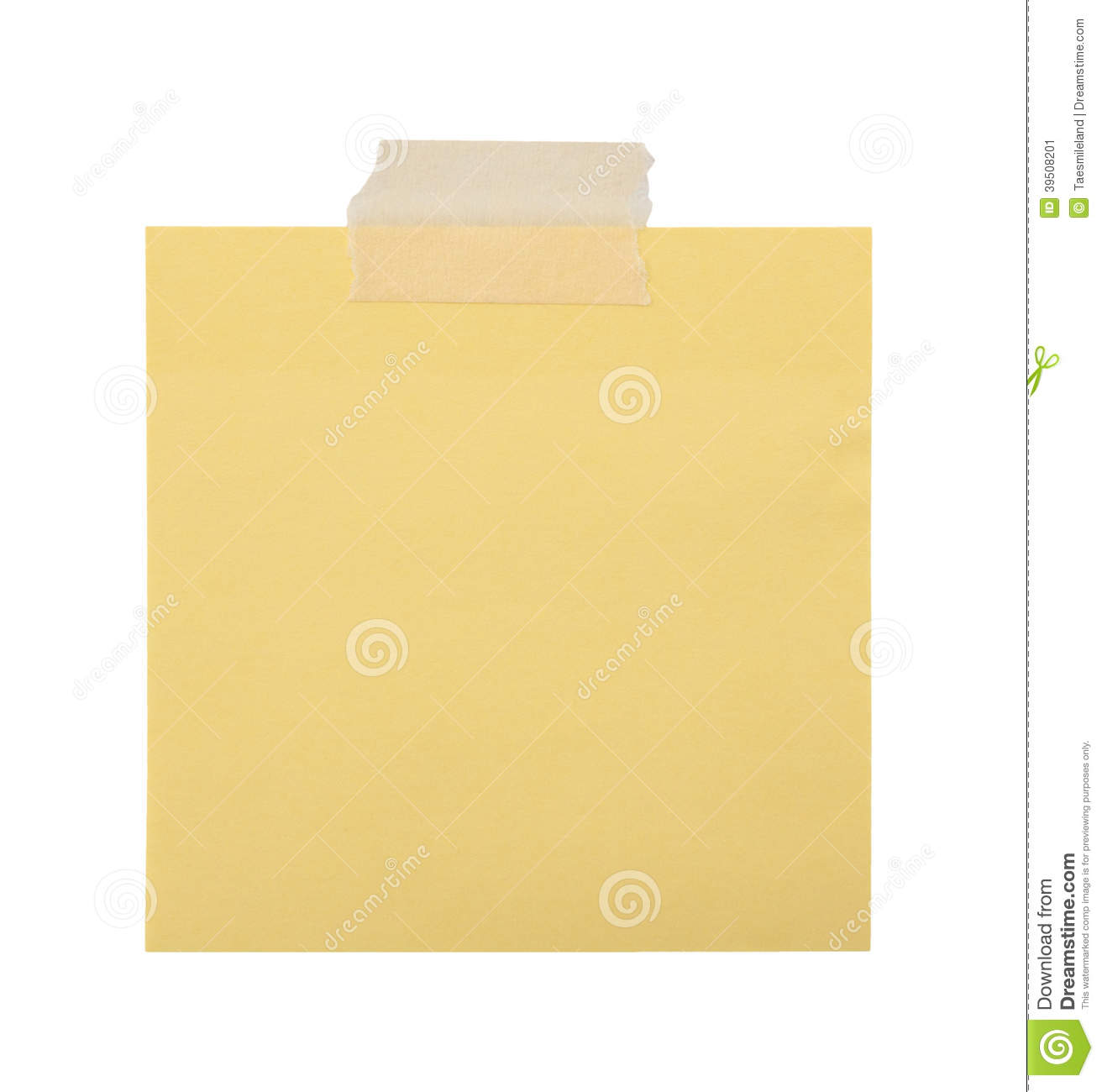 Close up of a yellow note paper