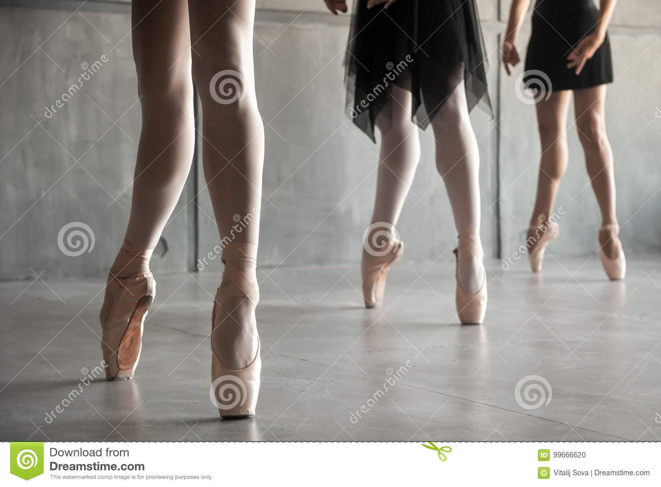 Close-up of a young ballet