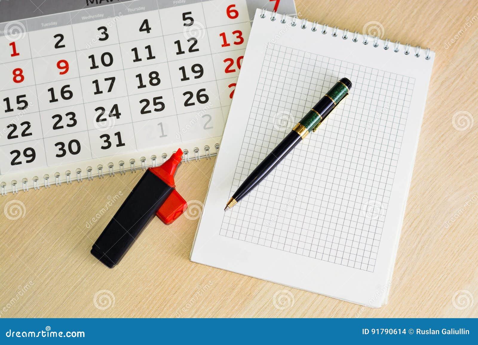 Close-upkalender concept de planning, telt de dagen, tijdbeheer