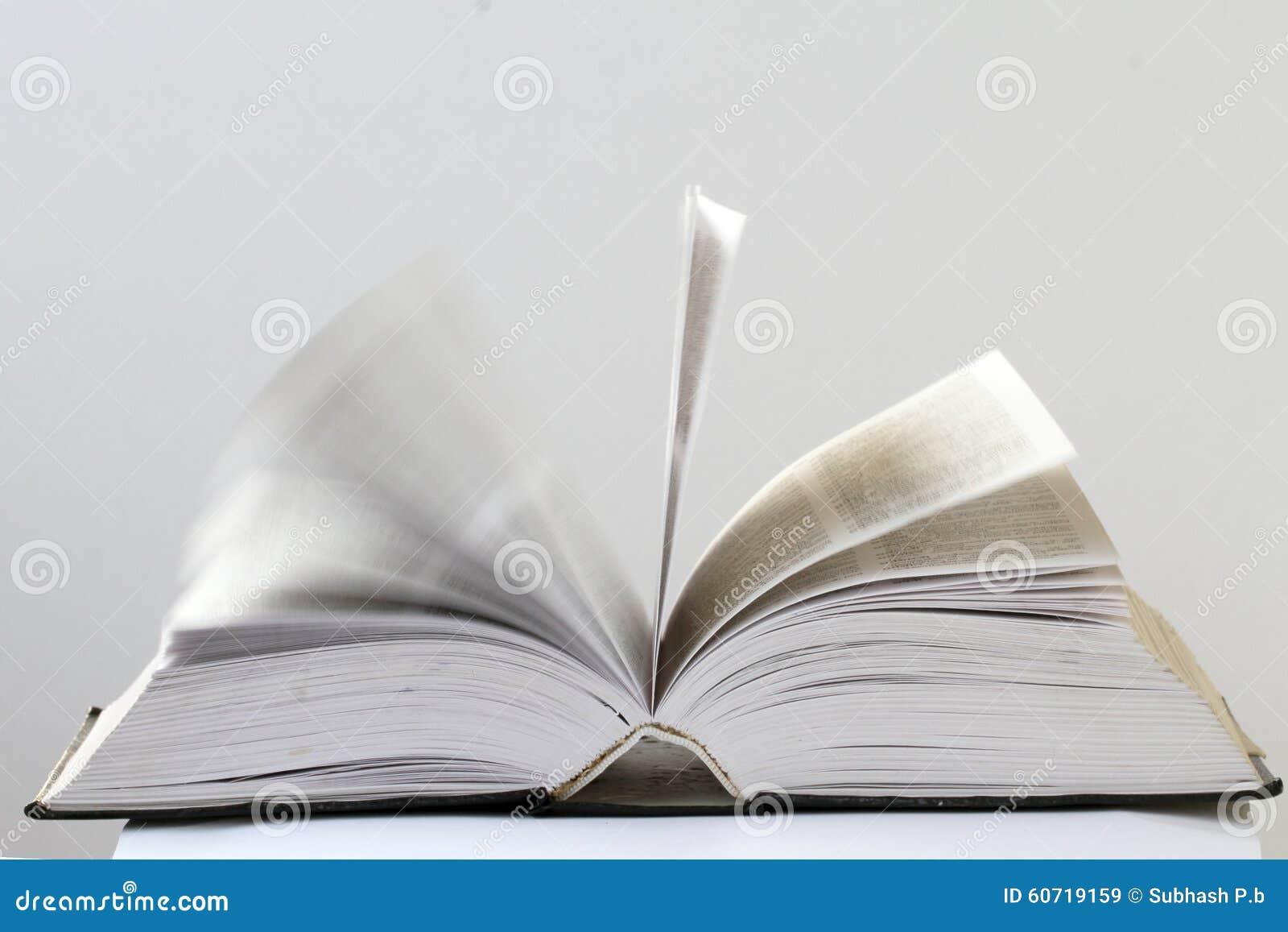 Close-upmening van een open boek