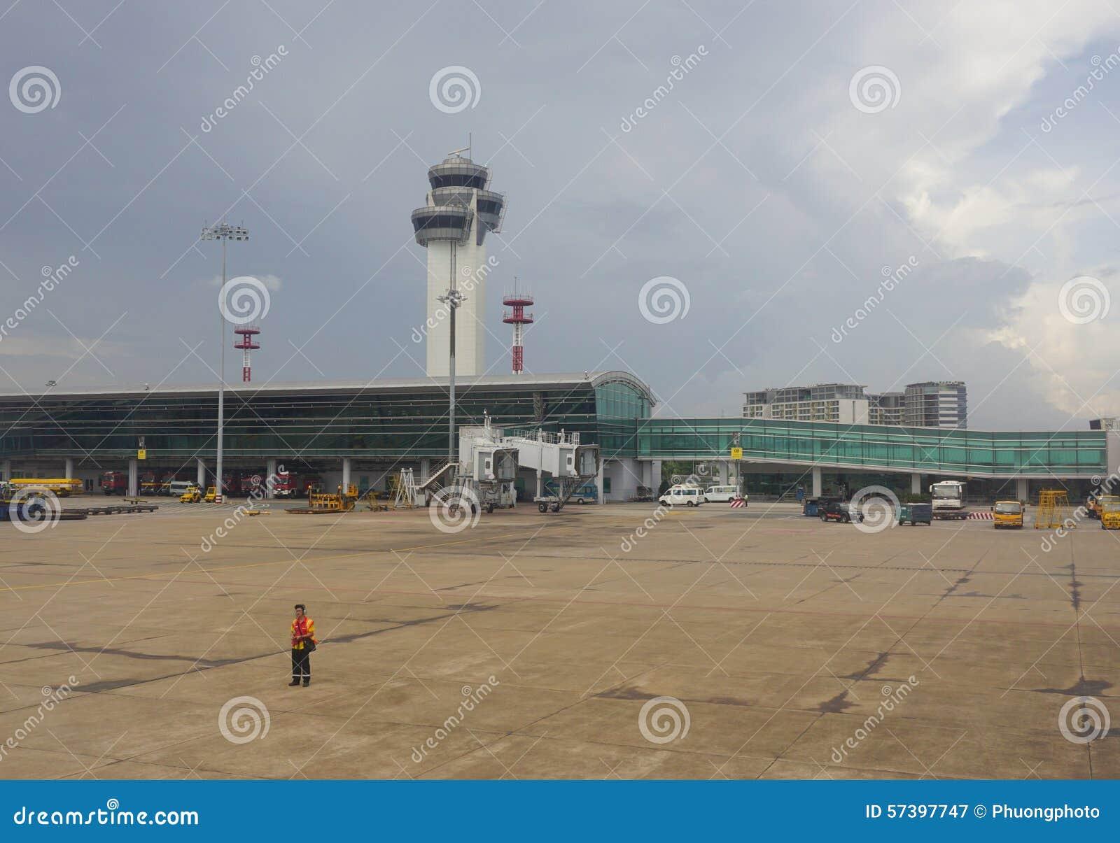Close-upmening van Tan Son Nhat-luchthaven