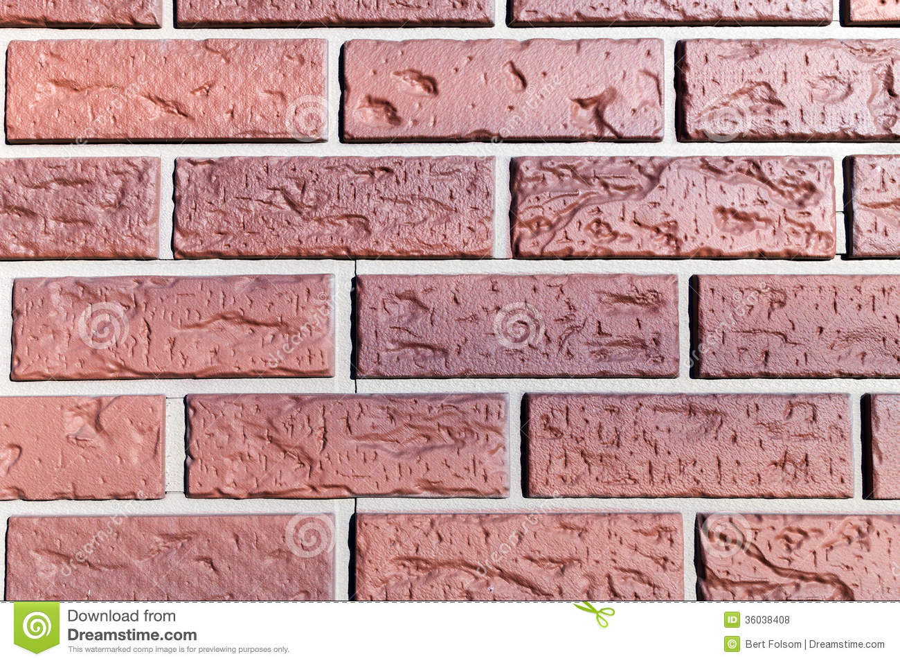 Close View Of A Fake Plastic Brick Wall Stock Photo