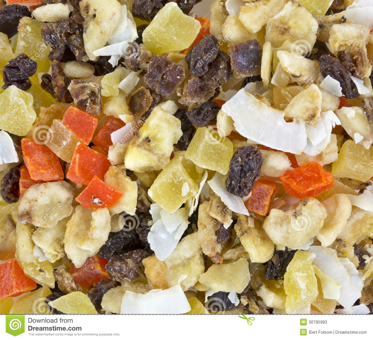 Close view of snack mix stock image. Image of pineapple ...