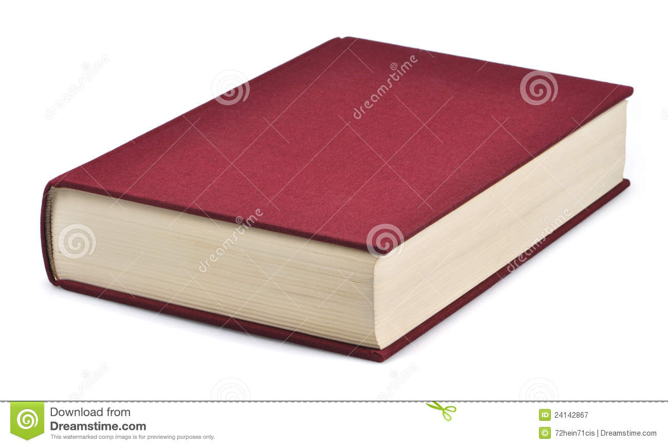 Closed book stock image. Image of blank, hard, learn ...