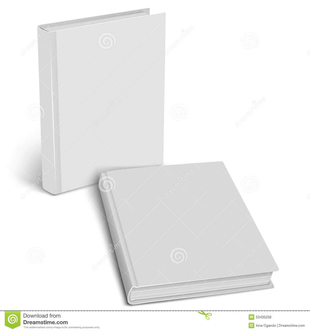 Closed Book Mockup. Empty Cover. Stock Vector - Image