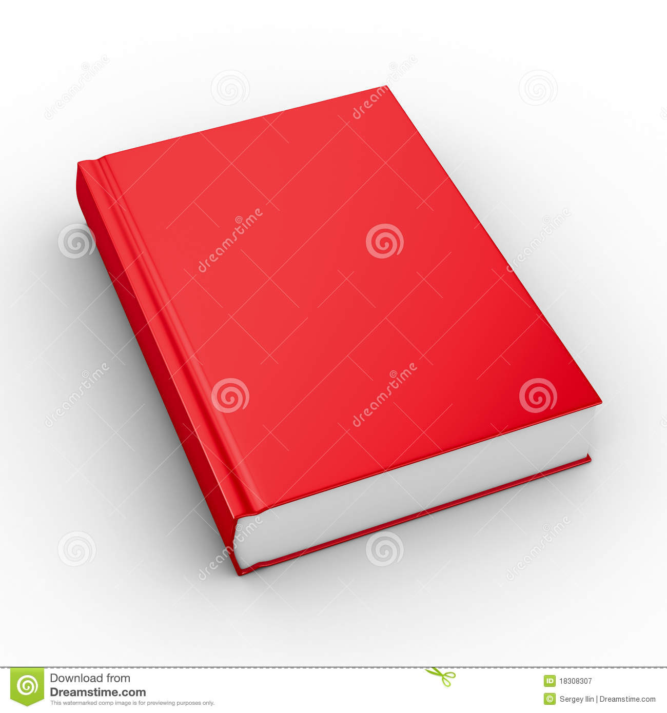 Closed book on white background