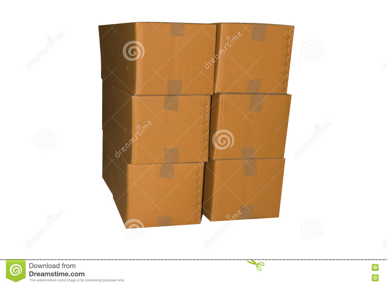 Closed cardboard box taped