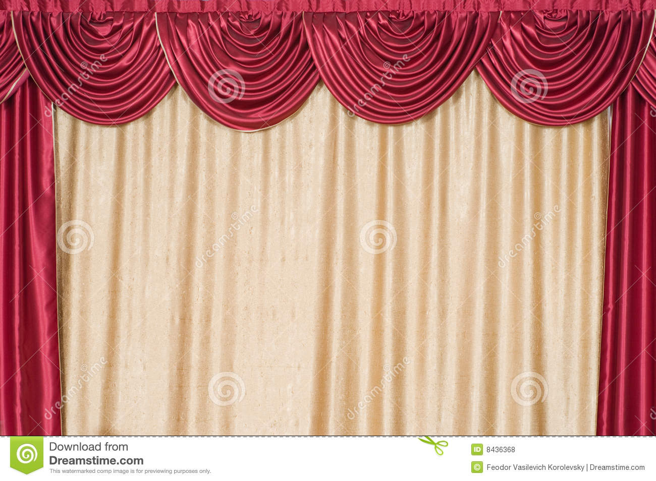 The closed curtain on a scene.