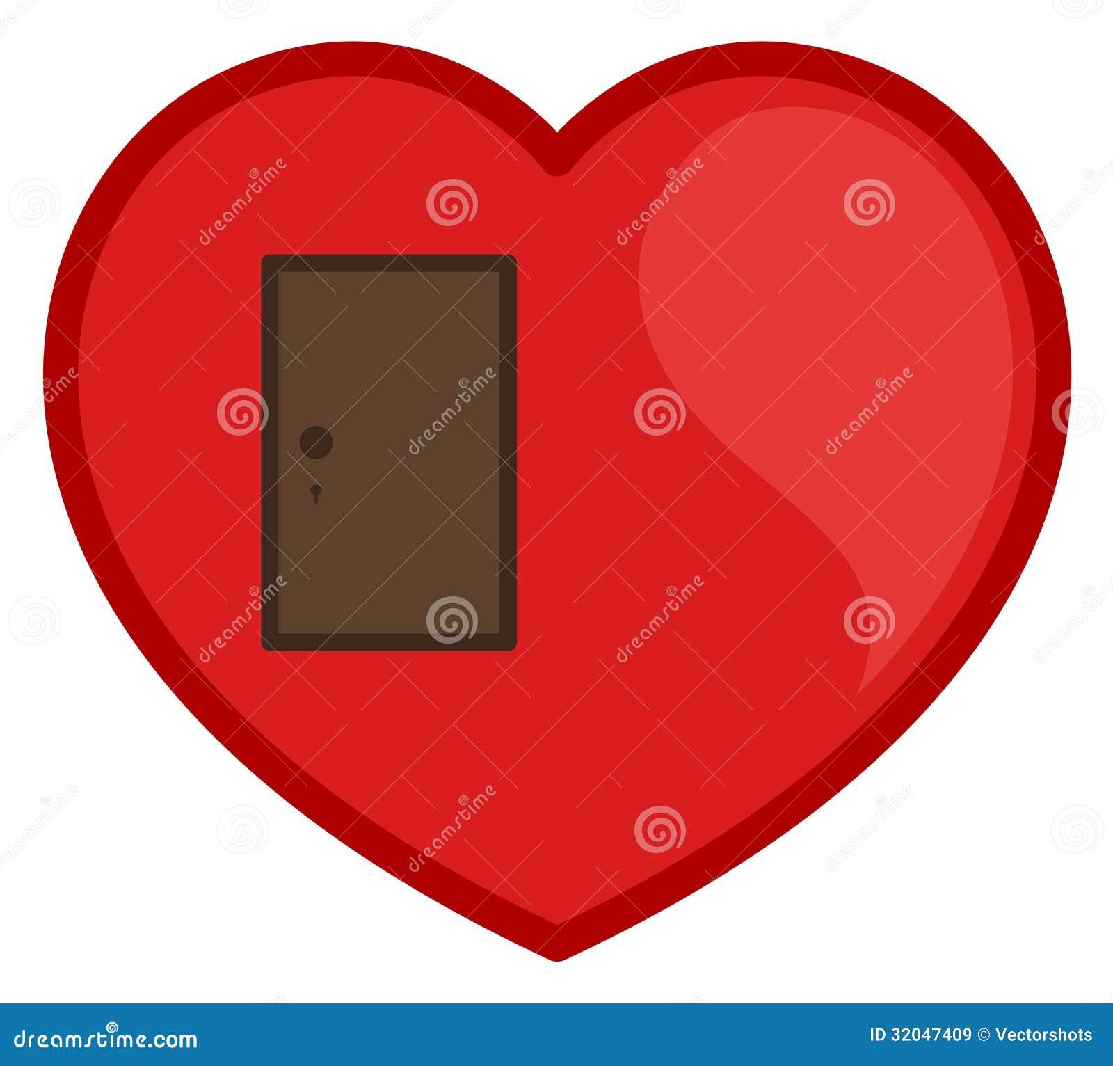 Closed Door Drawing closed door heart vector royalty free stock images - image: 32047409
