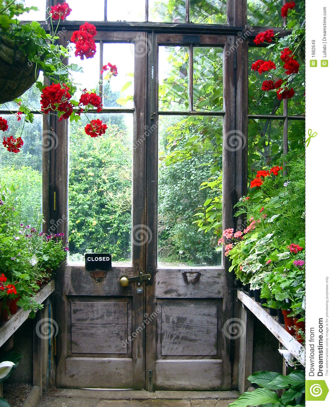 Closed door in a secret garden royalty free stock images for Closed loop gardening