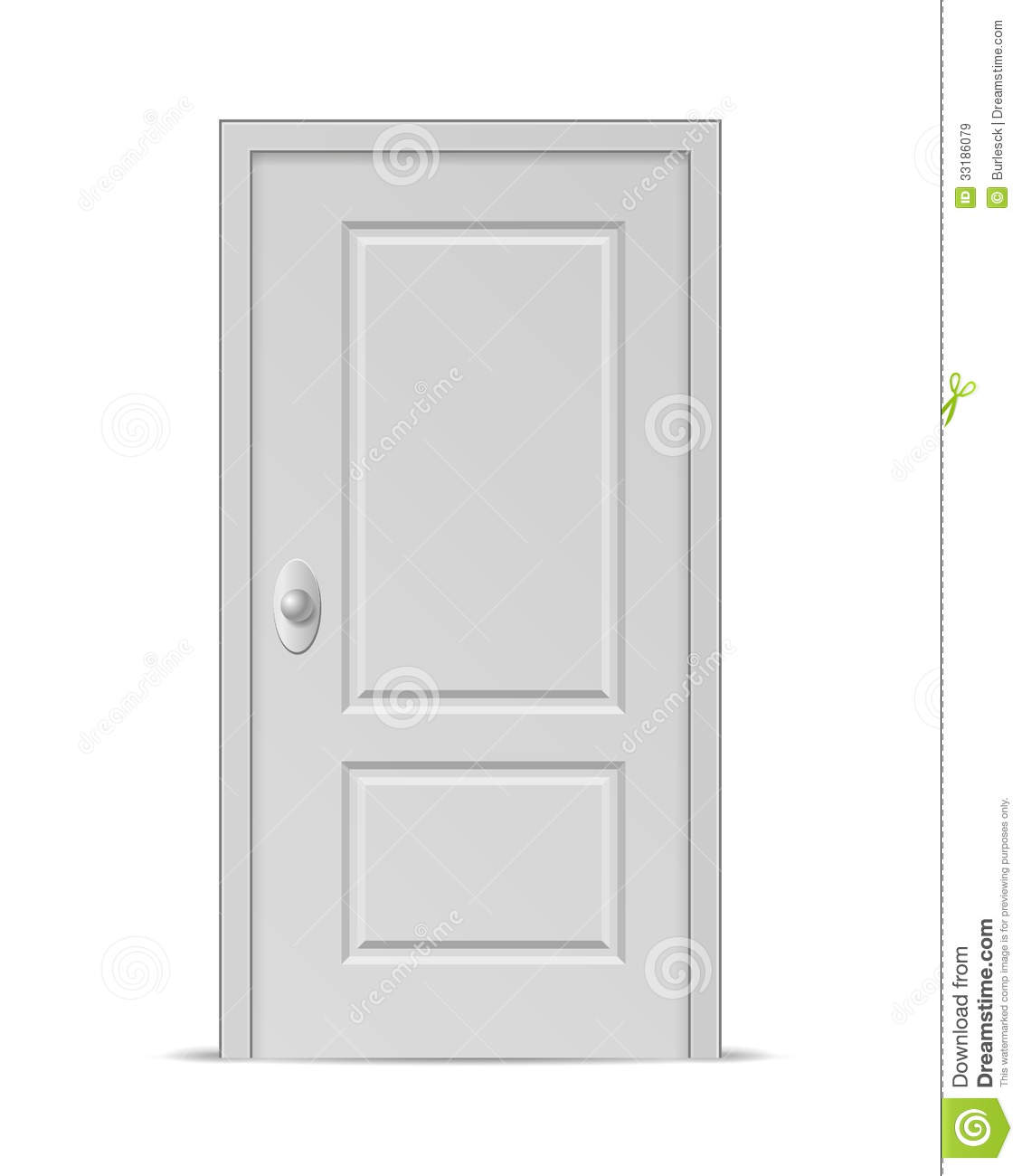 Closed door royalty free stock images image 33186079