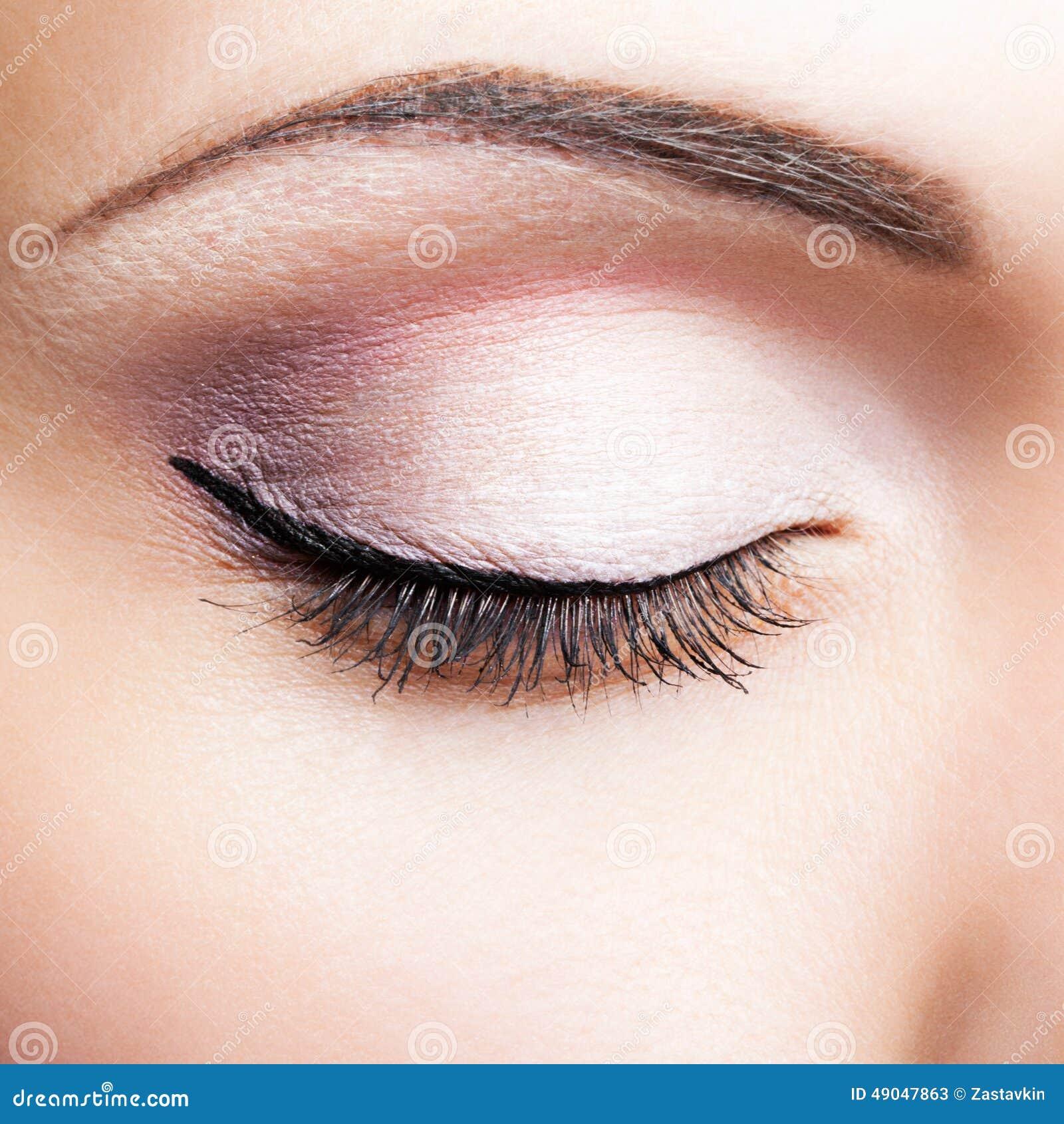 Closed eye stock image. Image of elegance, glamour ...