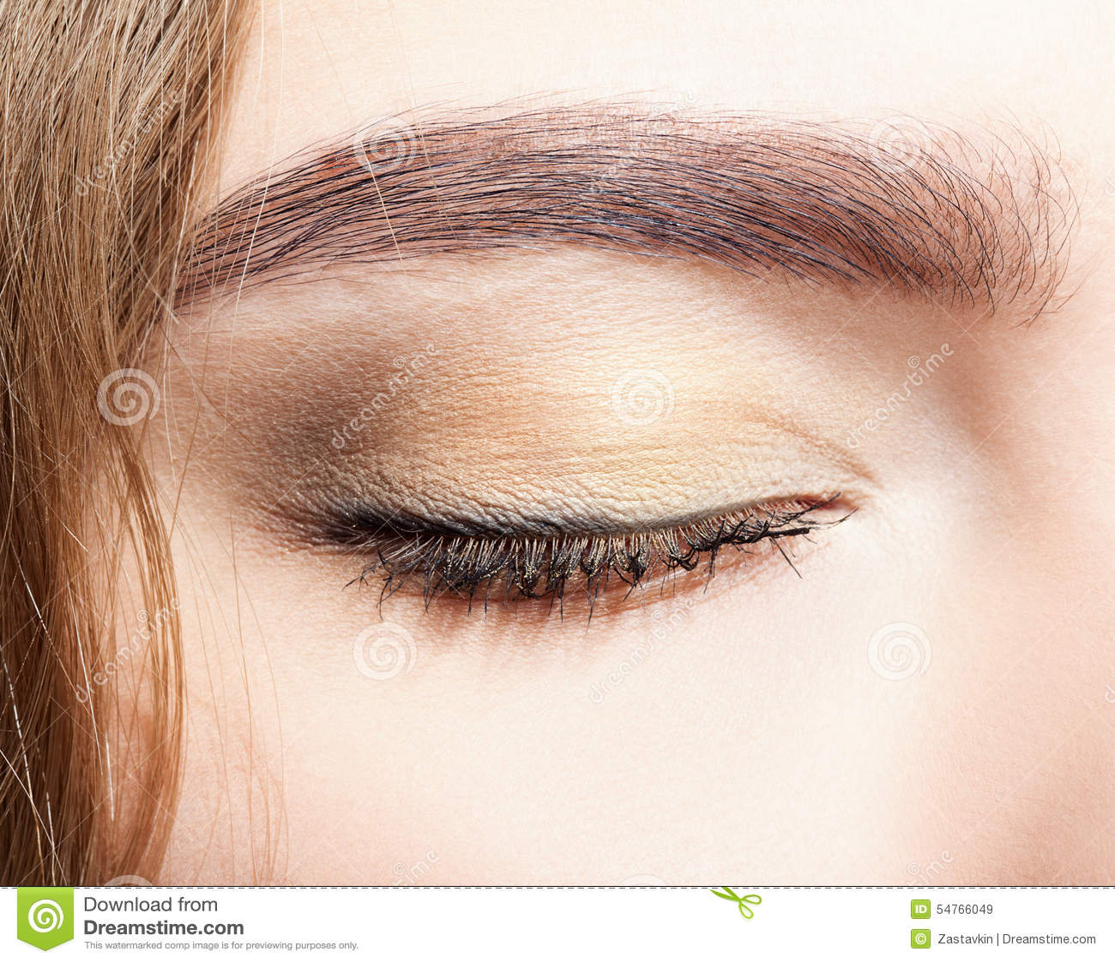 closed female eye makeup stock photo image 54766049