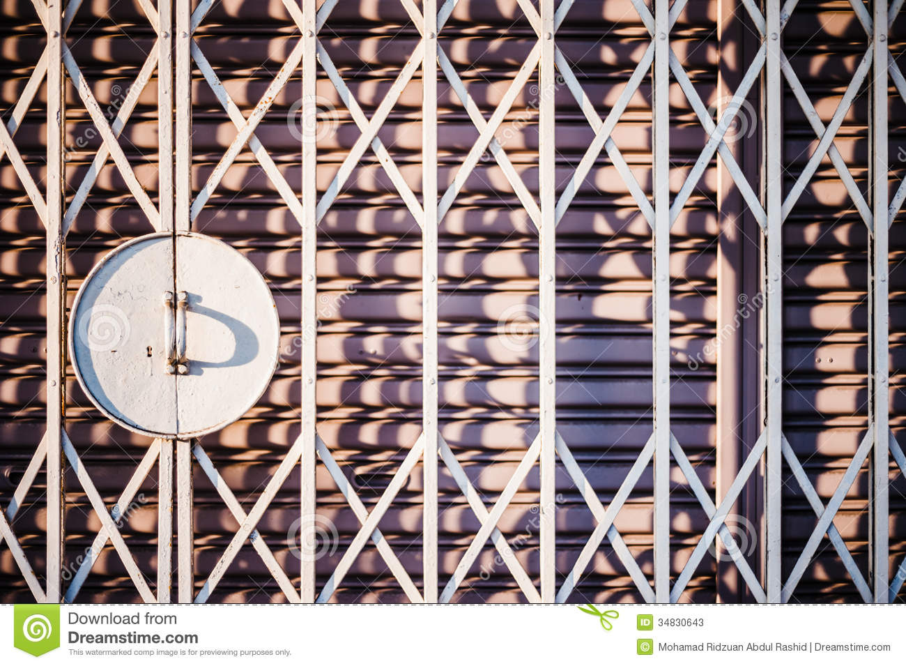 Royalty-Free Stock Photo. Download Closed Grilled Door ... & Closed Grilled Door stock image. Image of still steel - 34830643 pezcame.com