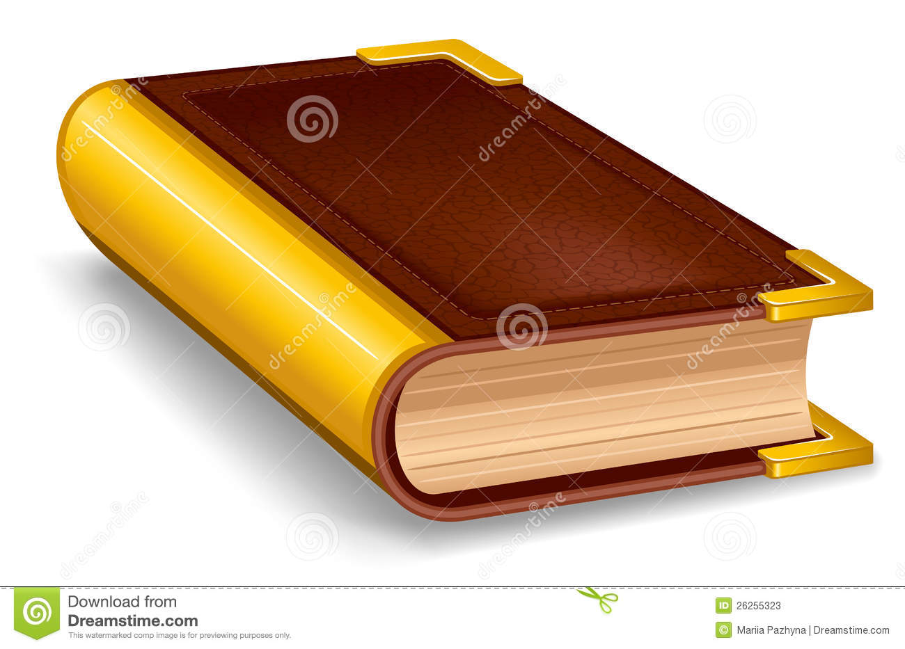 Closed old book stock vector. Image of illustration ...