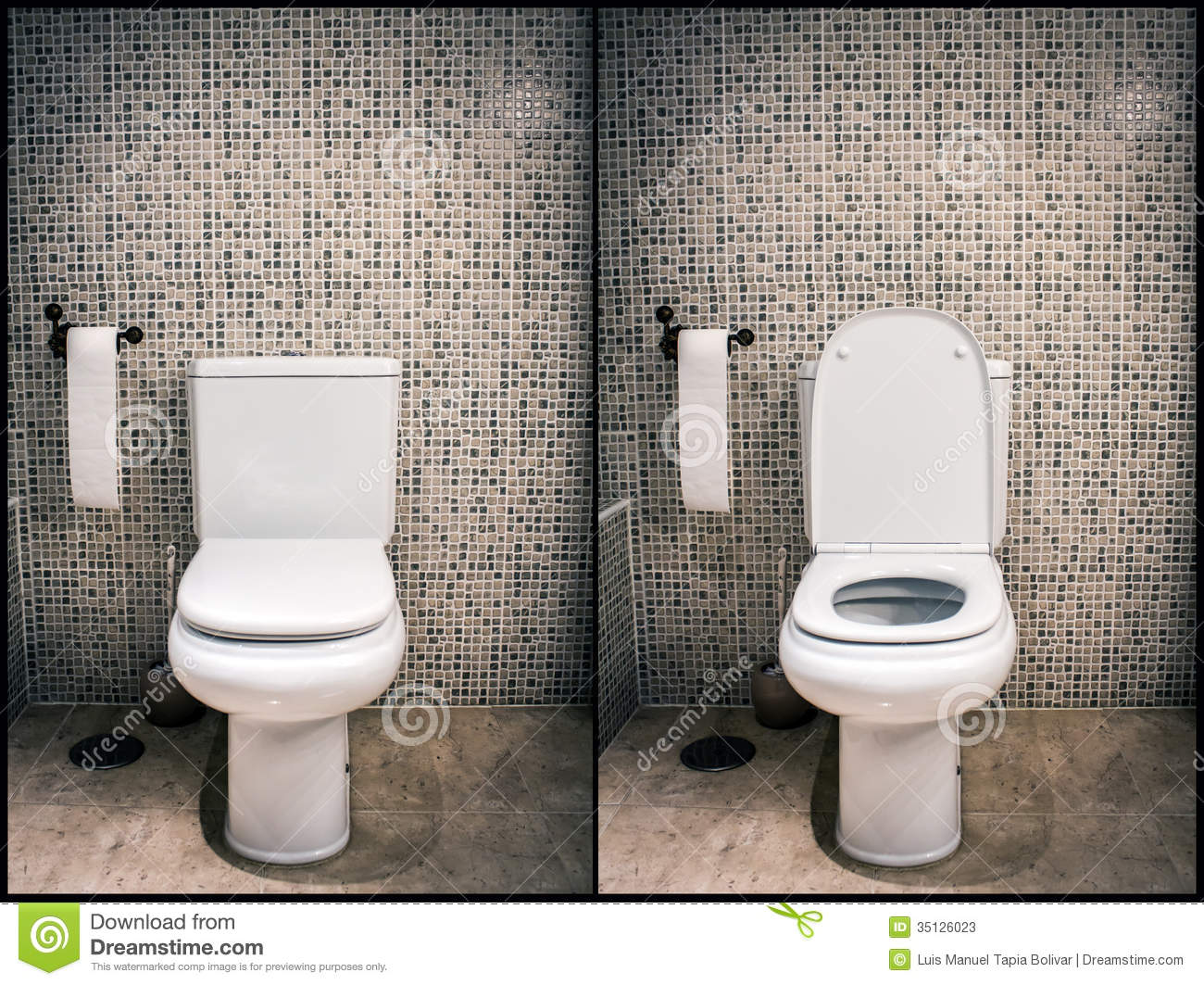 Closed and open toilet stock image. Image of home, open ...