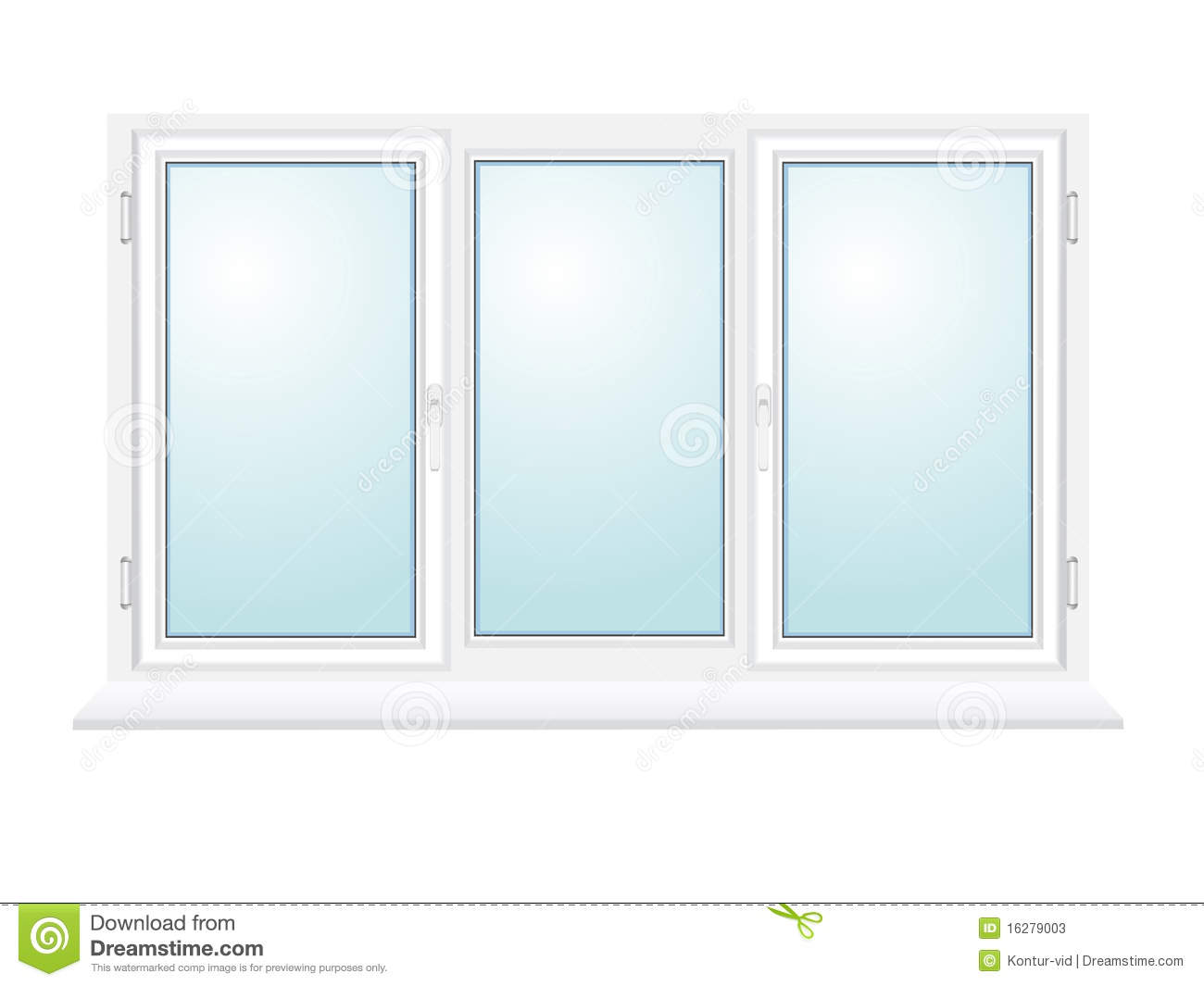 Closed plastic glass window illustration stock photos for Window plastic