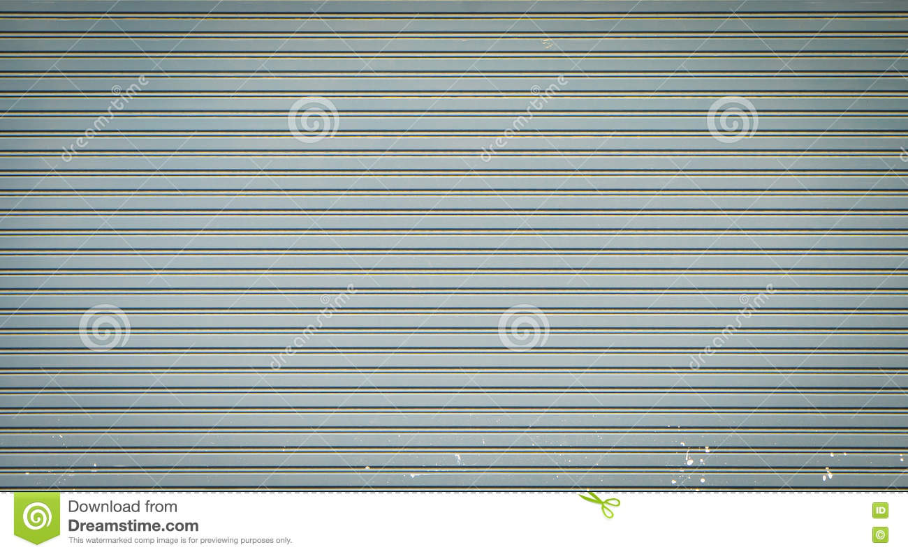Closed Rustic Shop Retail Metal Gate For Background Stock