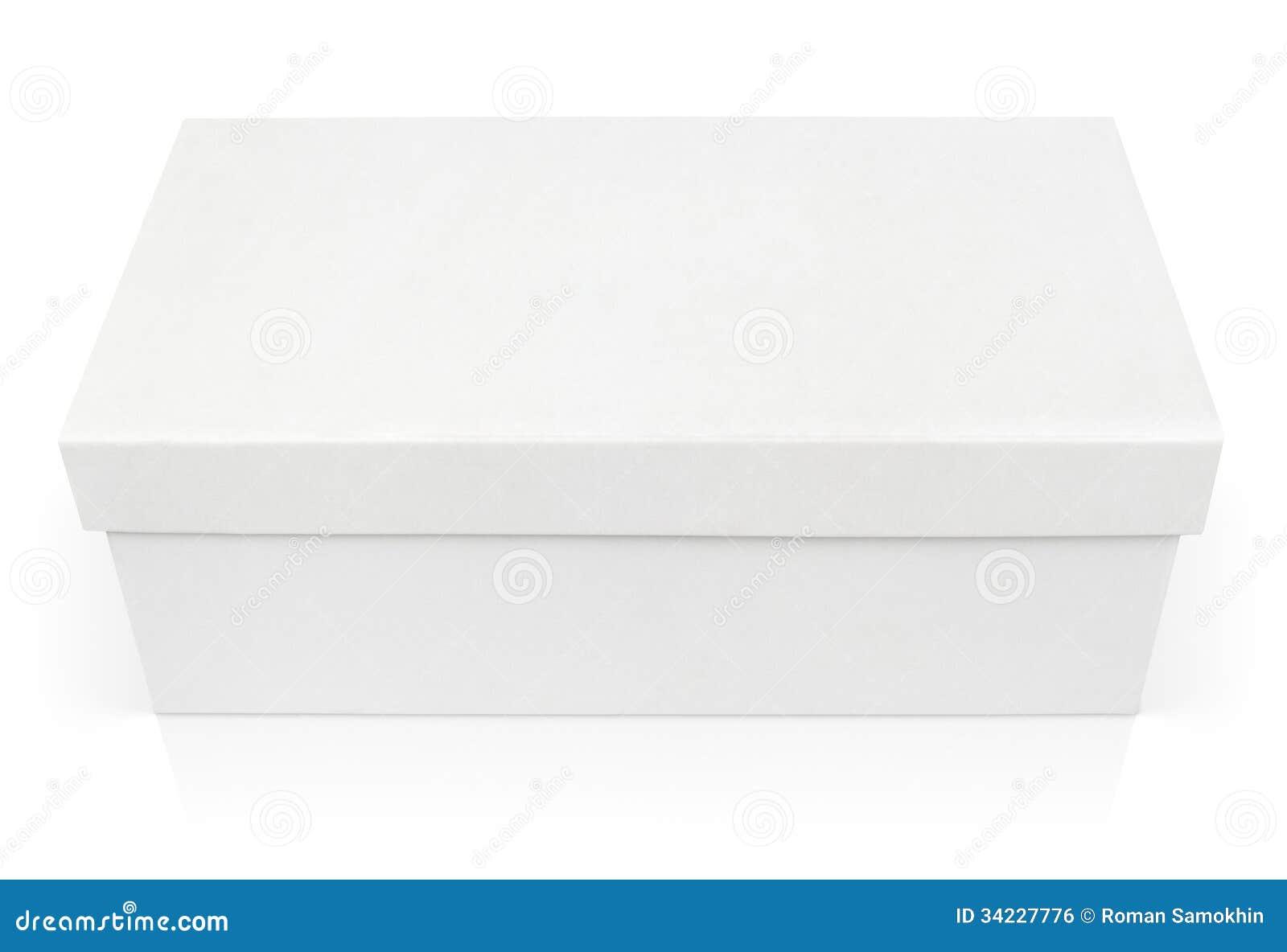 Closed Shoe Box Isolated On White Stock Photo Image