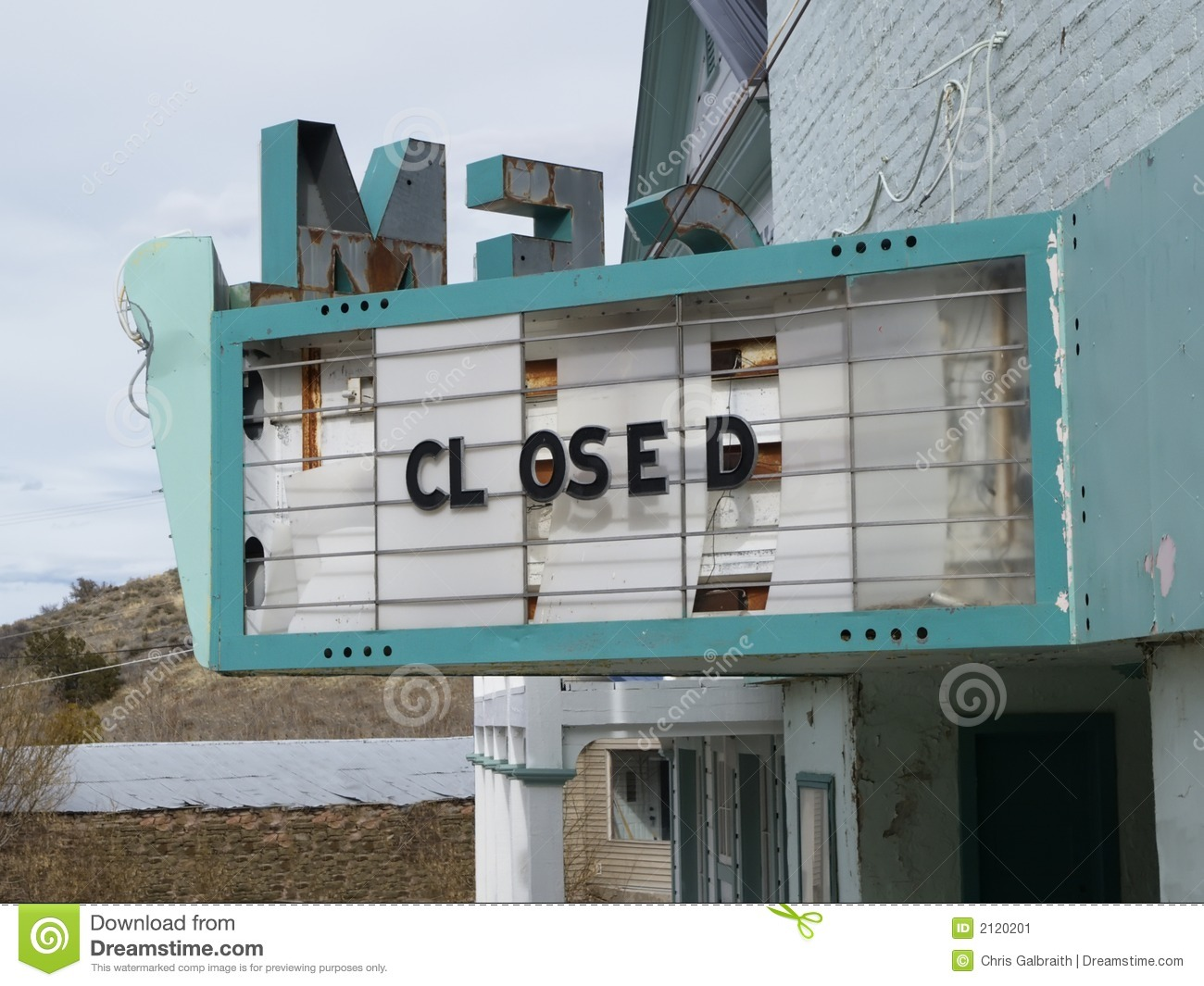 Closed Theater Stock Image - Image: 2120201